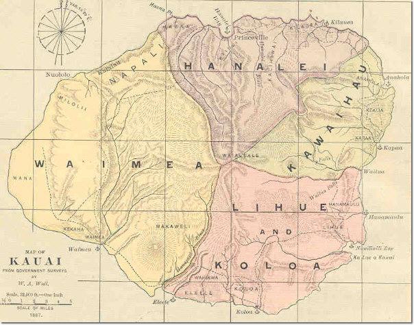 Post Office In Paradise Maps Of Hawaii Island Of Kauai