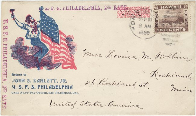 98 - Sep 10 to Robbins - USFS Phila cachet and handstamps