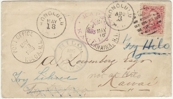 85 - May 16 with multiple town postmarks