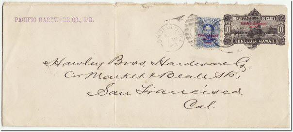 POST OFFICE IN PARADISE - Postal Envelopes